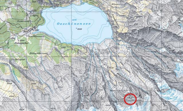 Karte Fründenhütte