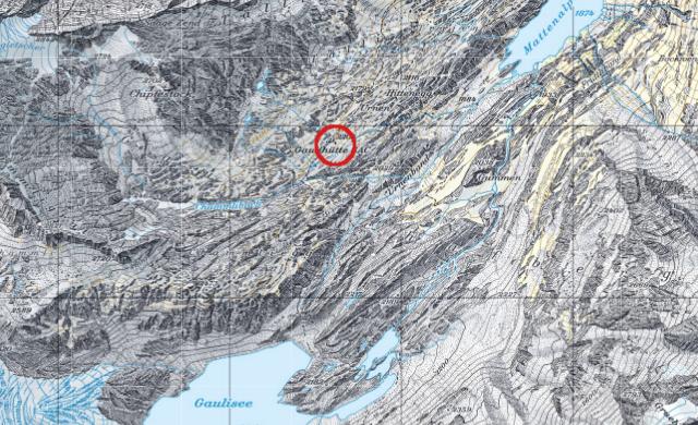 Karte Gaulihütte