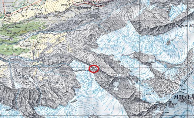 Karte Guggihütte