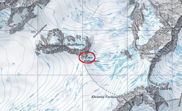 Karte Mutthornhütte