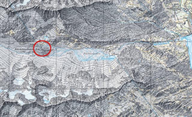 Karte Bächlitalhütte