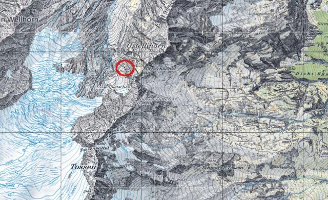 Karte Rosenlauibiwak