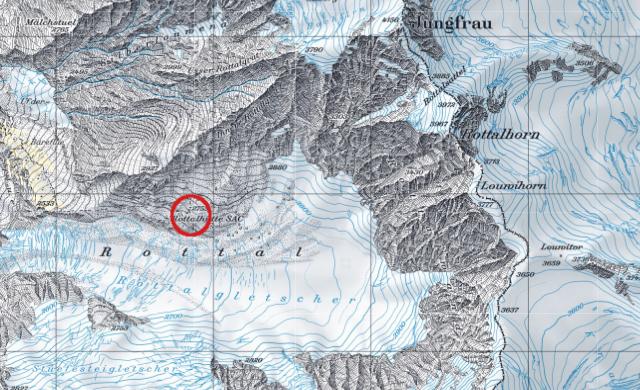 Karte Rottalhütte