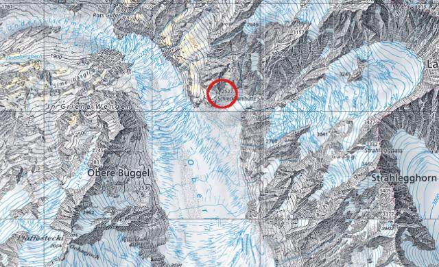 Karte Schreckhornhütte