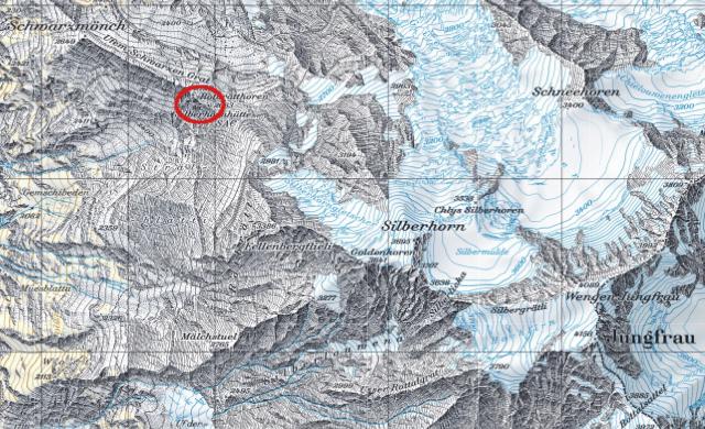 Karte Silberhornhütte