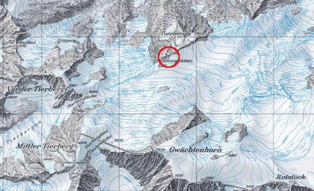 Karte Tierberglihütte