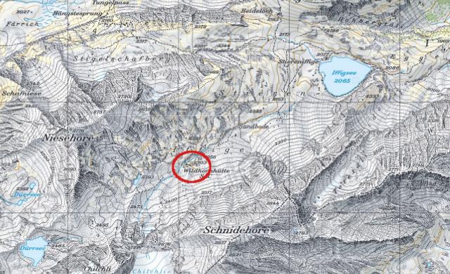 Karte Wildhornhütte