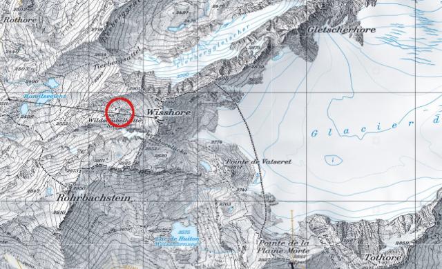 Karte Wildstrubelhütte