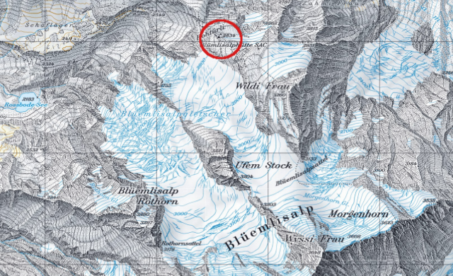 Karte Blümlisalphütte