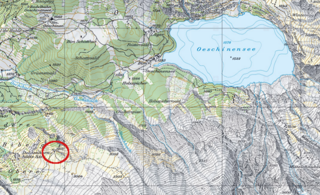 Karte Doldenhornhütte