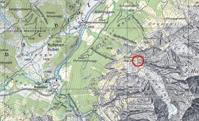 Karte Engelhornhütte
