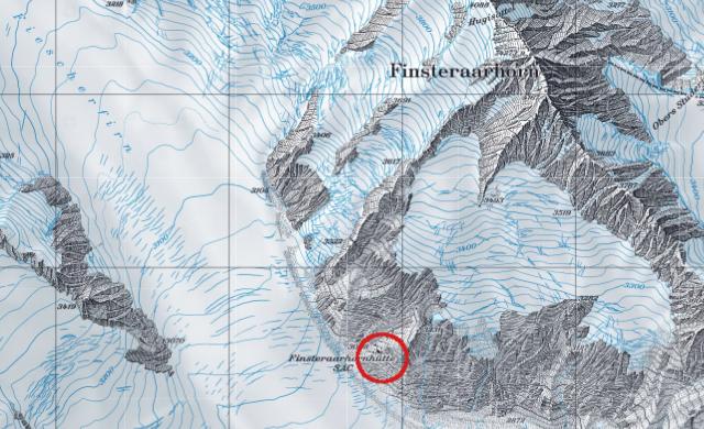 Karte Finsteraarhornhütte