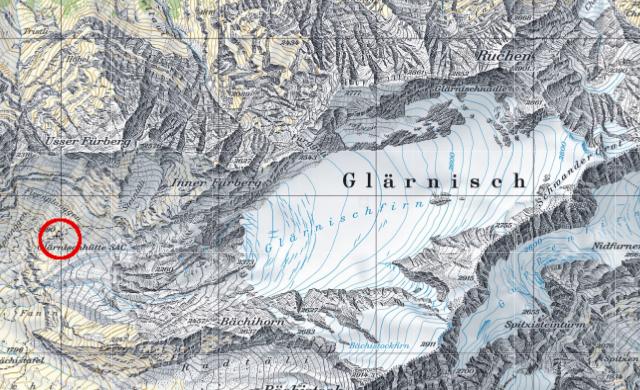 Karte Glärnischhütte