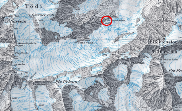 Karte Grünhornhütte
