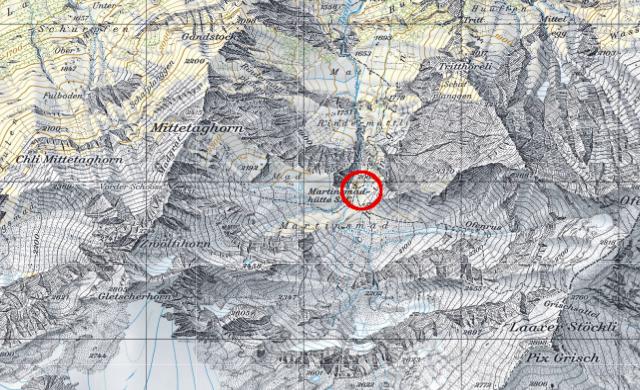 Karte Martinsmadhütte