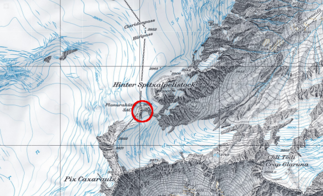Karte Planurahütte