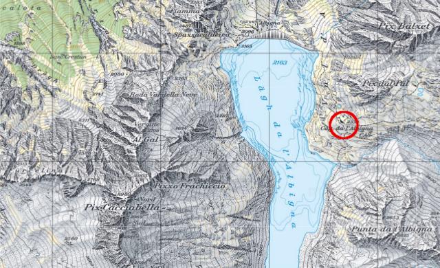 Karte Albignahütte