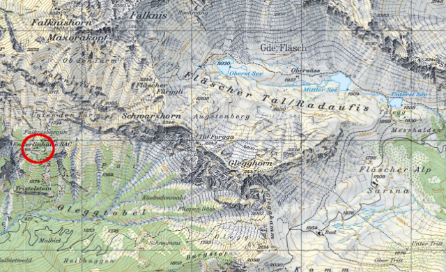 Karte Enderlinhütte