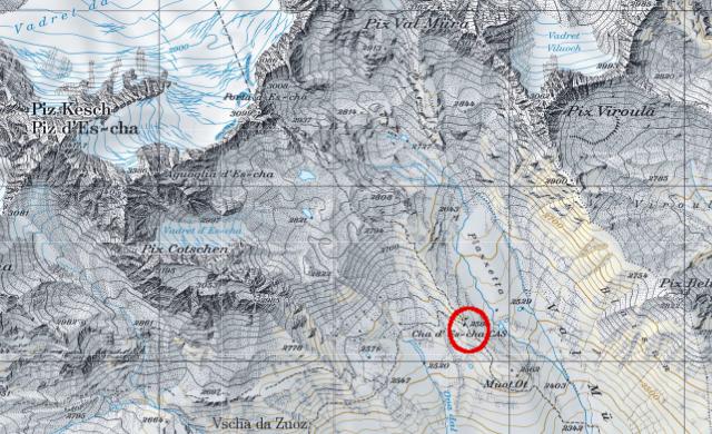 Karte Es-cha-Hütte