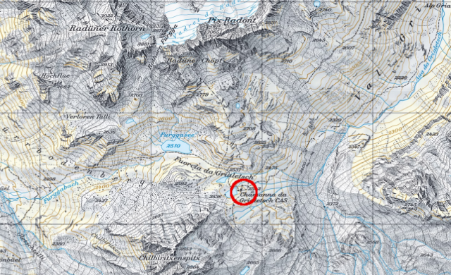 Karte Grialetschhütte