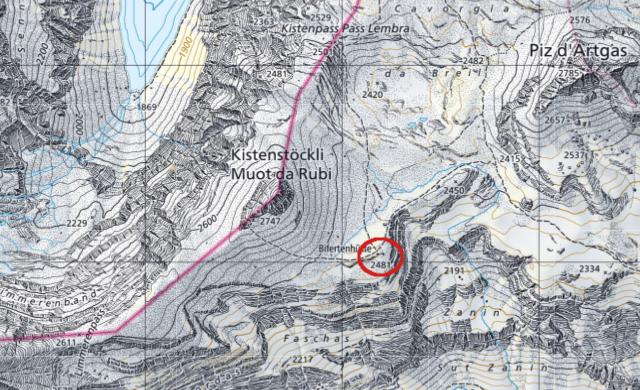 Karte Bifertenhütte