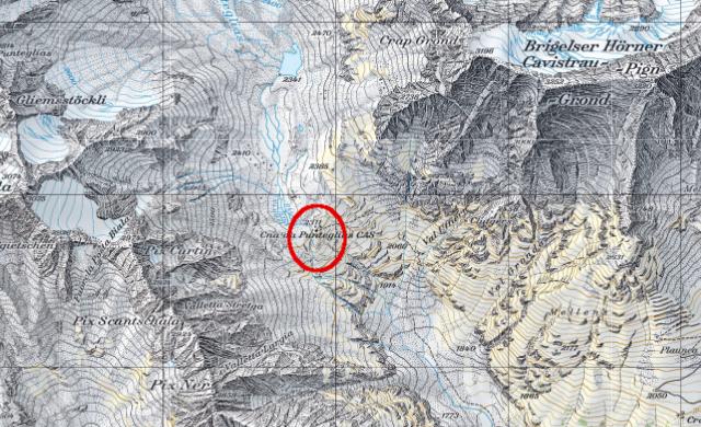 Karte Puntegliashütte
