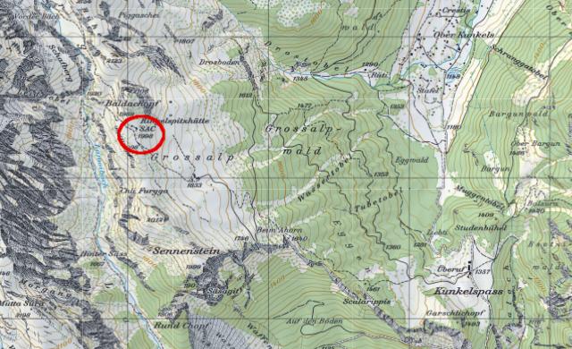 Karte Ringelspitzhütte