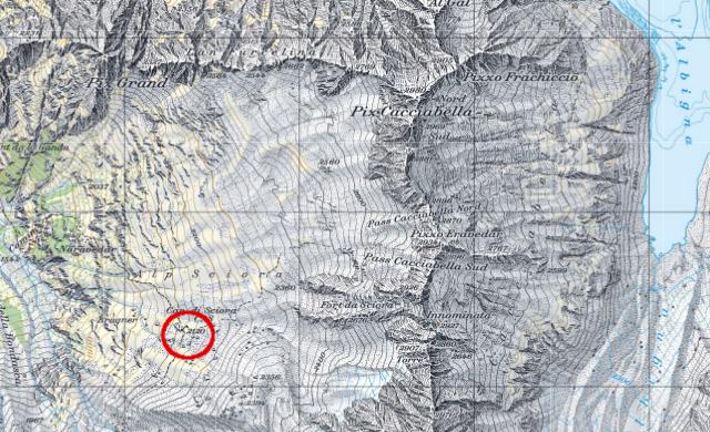 Karte Sciorahütte