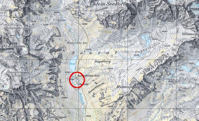 Karte Seetalhütte