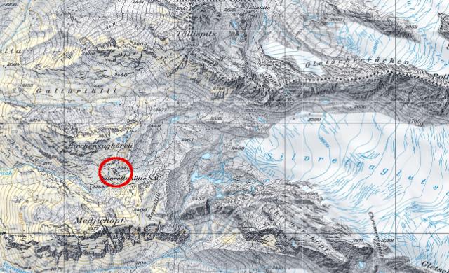 Karte Silvrettahütte