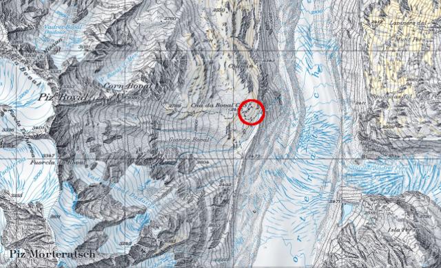 Karte Bovalhütte