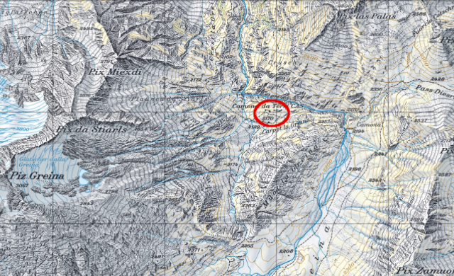 Karte Terrihütte