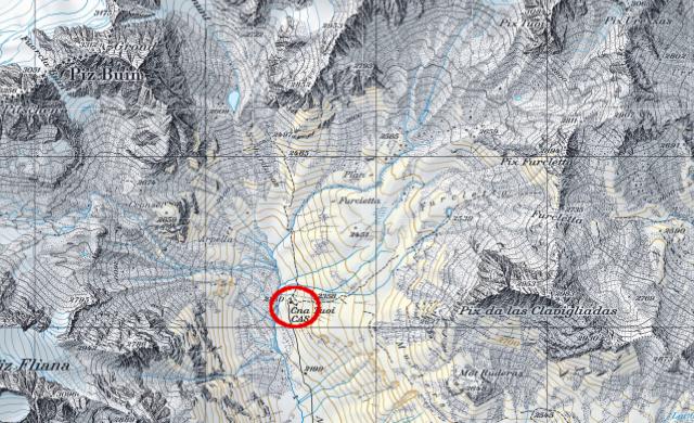 Karte Tuoihütte