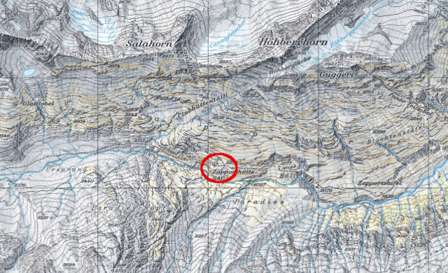 Karte Zapporthütte
