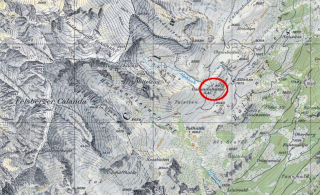 Karte Calandahütte