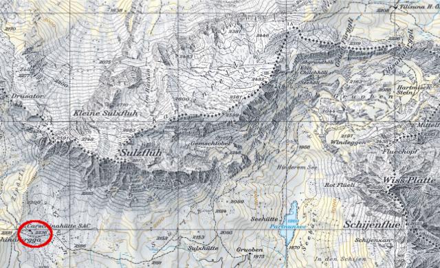 Karte Carschinahütte