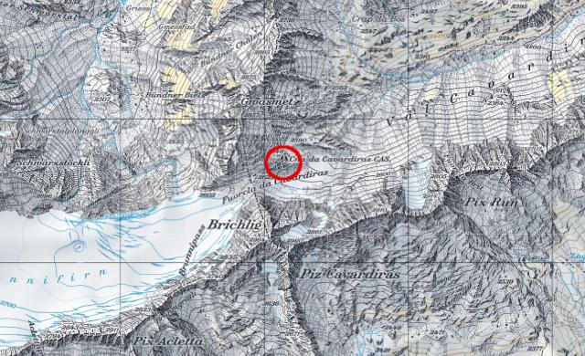Karte Cavardirashütte