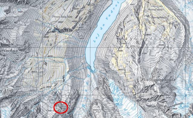Karte Coazhütte