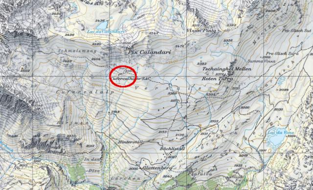Karte Cufercalhütte