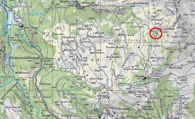 Karte Brunnihütte