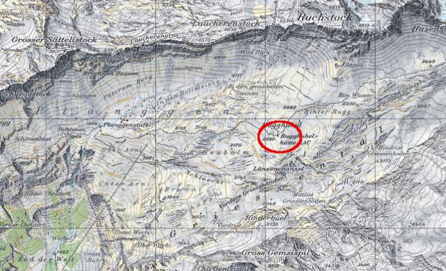 Karte Rugghubelhütte
