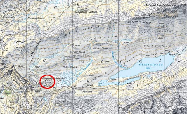 Karte Glattalphütte