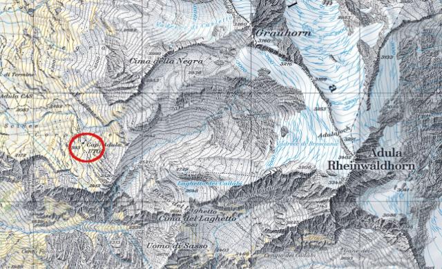 Karte Adulahütte