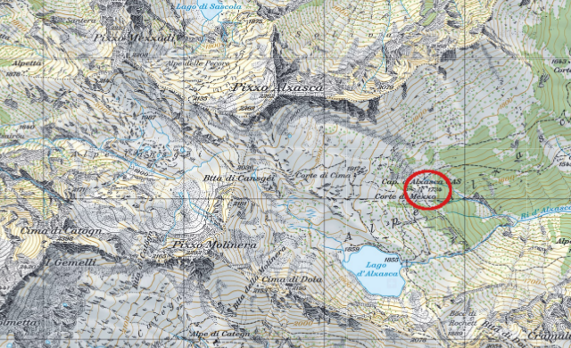 Karte Alzascahütte