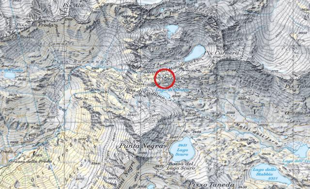 Karte Cadlimohütte