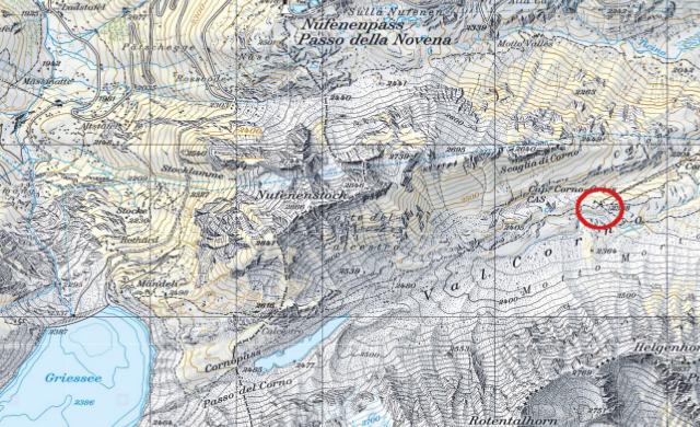 Karte Corno-Gries-Hütte
