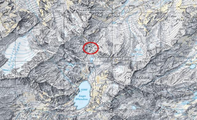 Karte Cristallinahütte