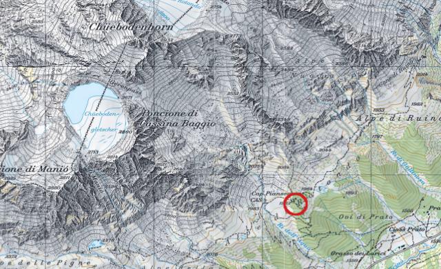 Karte Pianseccohütte