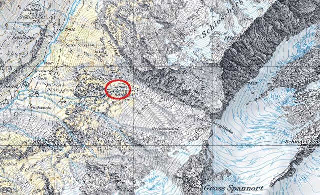 Karte Spannorthütte