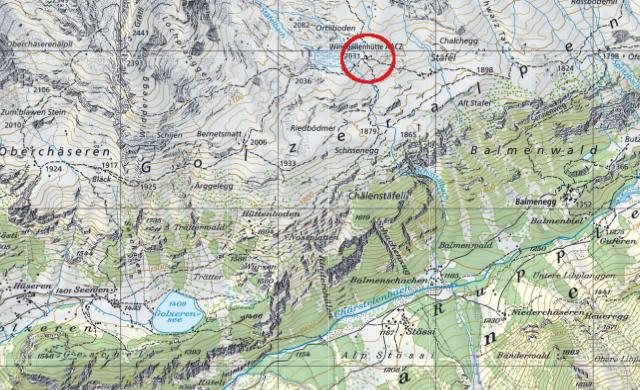 Karte Windgällenhütte